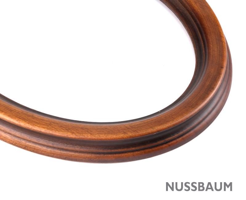 wooden oval frame 6x8,25 ins oval-1520-wooden   Bilderrahmen Shop 24 ...
