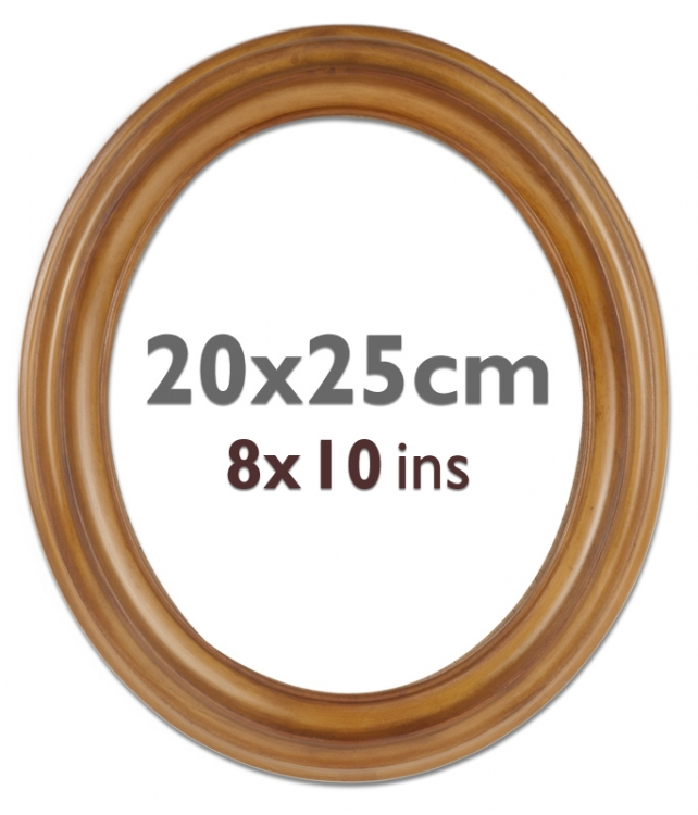 plastic oval frame 8x10 ins oval-2025-plastic | Bilderrahmen Shop 24 ...