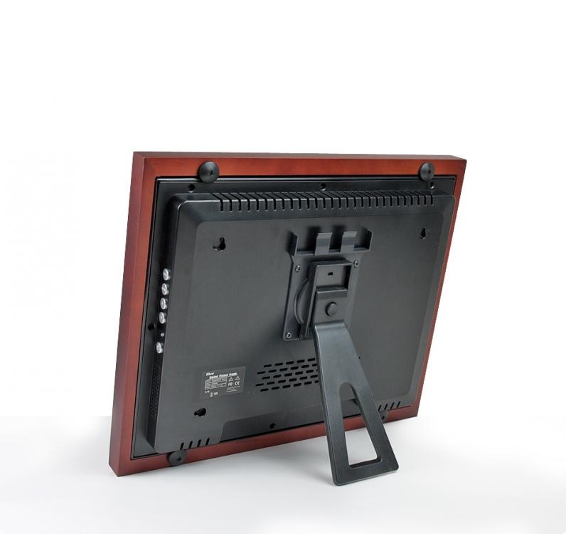 digitale bilderrahmen tft 15 braun 37 cm tft15 br. Black Bedroom Furniture Sets. Home Design Ideas