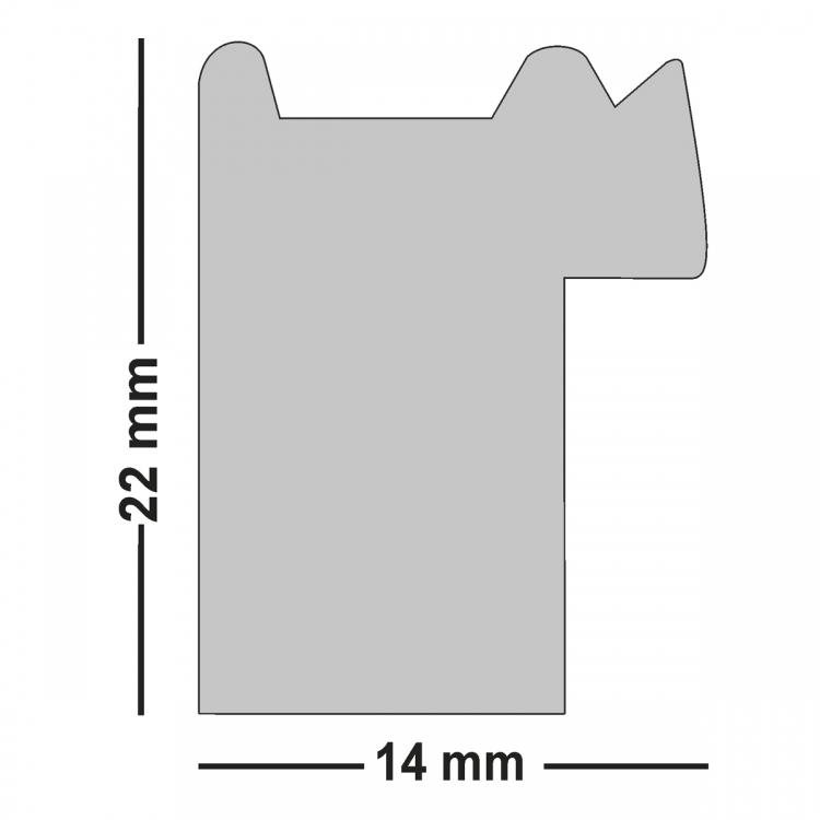 Holzrahmen CAPRI, Wechselrahmen in 5 Farben WR-670 | Bilderrahmen ...