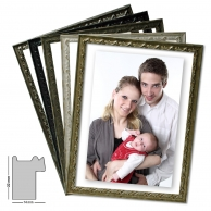 Wooden frame CAPRI, mobile racks in 5 colors